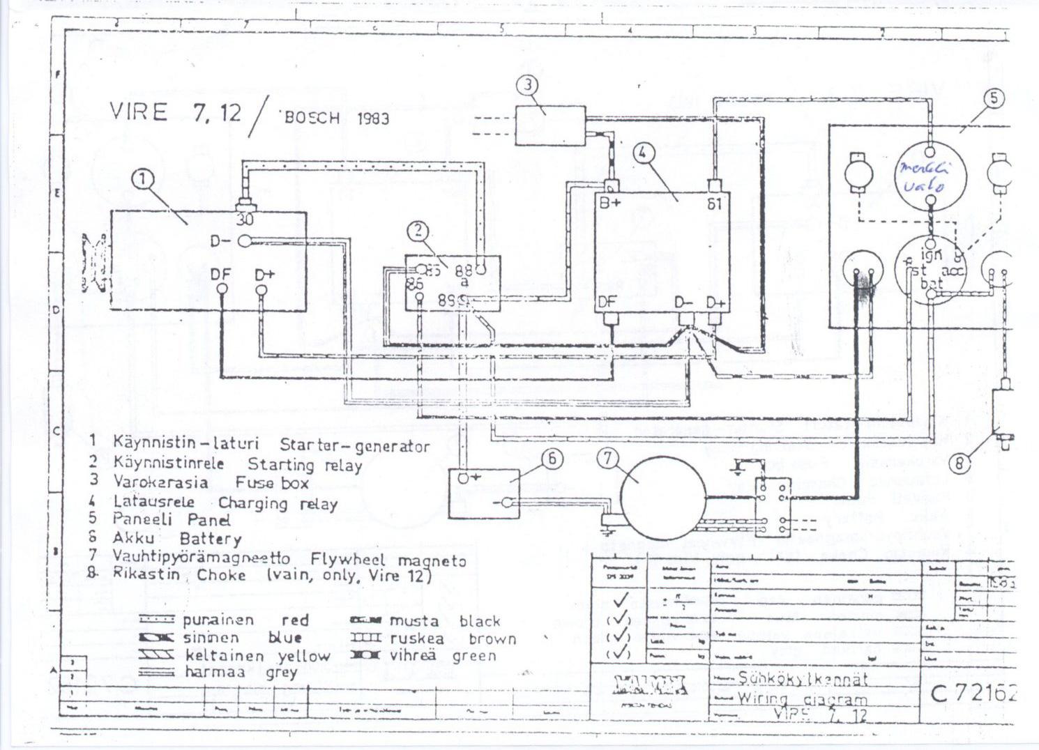 Vire 7 Starter Generator Circuit Diagrams